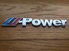 "SCRITTA  STEMMA LOGO ADESIVO BMW ""M-POWER"" METALLO LUCIDO - MADE IN GERMANY!"