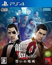 USED PS4 Ryu ga Gotoku Zero 0 Chikai no Basho YAKUZA SEGA GAMES Free Shipping