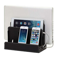 Multi-Device Desk Organizer Charging Station Stand for Phone Laptop Tab etc