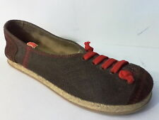 CAMPER BROWN CANVAS & SUEDE LEATHER SLIP ON CASUAL SNEAKER SHOE 36 6M MOROCCO