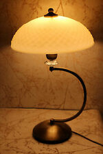 Antique Style Desk Table Lamp Vintage Glass Lampshade and Base