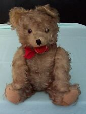 Vintage Jointed Teddy Bear. Tipped Mohair with Open Mouth  Germany  Toy 1950/60s