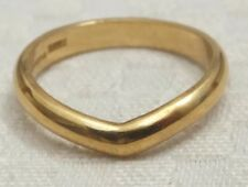 Vintage 18ct Yellow Gold Wedding Band Keeper Ring NO RESERVE