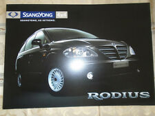 Ssangyong Rodius brochure c2000's Swiss market French text