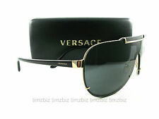 New VERSACE Sunglasses VE 2140 Black Gold 1002/87 Authentic