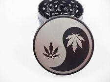 "Yin And Yang 2.2"" Laser Etched 4 Piece Metal Herb Grinder"