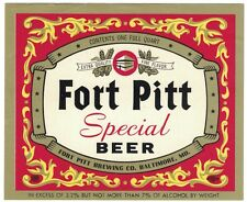 Fort Pitt Special Beer Label