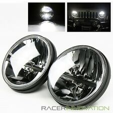 "7"" Inch Round 20W CREE LED 6000K White Hi/Low Beam Crystal Headlights Lamps"
