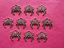 Tibetan Silver Spider Charms 10 per pack HALLOWEEN