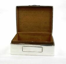 Vintage Sterling Silver Cigarette Trinket Jewellery Box Foliate Ornament 1928