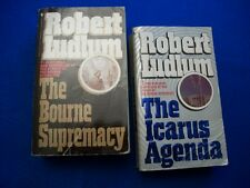 The Icarus Agenda & Bourne Supremacy by Robert Ludlum   early (Paperbacks)
