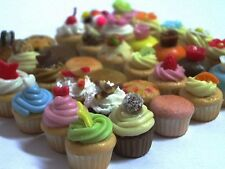 36 pcs.Dollhouse Miniature Cupcakes 1/2 inch