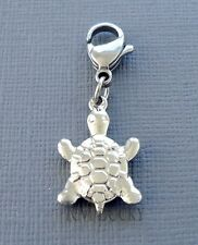 TURTLE Pendant Clip On Charm Stainless Steel Fits floating locket chain  C199
