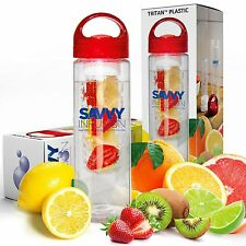 Savvy Infusion Water Bottle - 24 Oz - Create Your Own Naturally Flavored Fruit