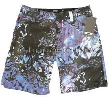 Oakley Sultan Neon Blue Size 32 Boardies Mens Boys Surf Swim Beach Board Shorts