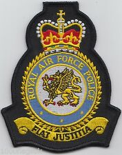 RAF Military Police Royal Air Force Embroidered Crest Badge Patch MOD Approved