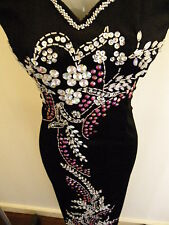 SALE! Plus Size22 (D13-BPK) New Dinner Prom Long Dress Party Gown with Sequins