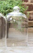"GLASS CLOCHE DOME~ BELL JAR~French Country~Garden~SMALL~10.5""H x 7"""
