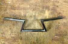 "CRAZY Z BAR HANDLEBARS 7/8"" Chrome Triumph Honda Chopper Bobber Custom 6"" Frisco"