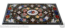 4'x2' Marble Dining Table Top Real Inlay Mosaic Style Pietradure Arts Furniture