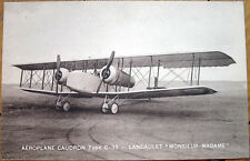 1930 French Aviation Postcard: 'Aeroplane Caudron C-33, Landaulet, M-M' - Front