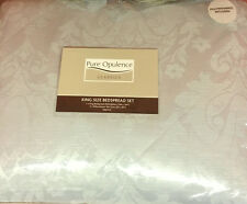 KING SIZE COUNTLESS JACQUARD DAMASK DUCK EGG QUILTED BEDSPREAD SET 260cm x 260cm