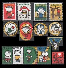 Japan 2824-27 + 2828a-j Letter Writing Day 2002 [14 USED Stamps]
