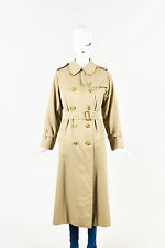 VINTAGE Burberrys Khaki Beige Double Breasted Long Sleeve Trench Coat Jacket
