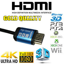 HIGH SPEED 6FT 2 METERS HDMI Câble UHD 3D 2160P 4K 3D GOLD IDEAL: BOX TV