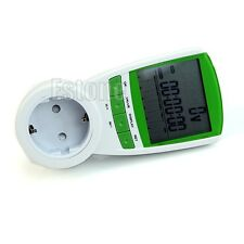EU Plug Electric Energy Power Meter Volt Watt Amp Consumption Monitor Analyzer