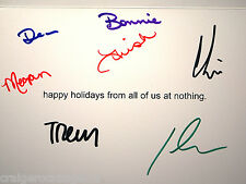 Trent Reznor Nine Inch Nails Band Signed NOTHING Christmas Card x7 AUTOGRAPH
