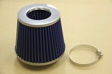 HIGH PERFORMANCE 3' BLUE INLET HIGH FLOW SHORT RAM/COLD INTAKE TURBO AIR FILTER