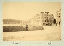 Photo Anonyme Albuminé Ciboure Vue de Saint Jean de Luz Voyage à Biarritz 1877