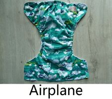 Sunbaby 1 Reusable Pocket Cloth Diaper Nappy +1 MF Insert (Size 1) Airplane