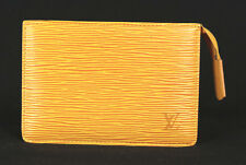 LOUIS VUITTON Tassili Yellow Epi Leather Small Zip Cosmetic Bag