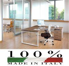 scrivania semidirezionale, allungo posizionabile dx o sx mis. 180 x 180 x