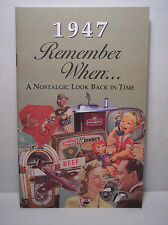 70th Birthday / Anniversary - 1947 Remember When Nostalgic Book Card  - NEW