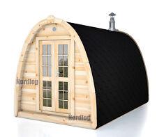 NordLog Sauna Pod 2,4 x 3,5m Gartensauna Saunahaus Saunahütte Außensauna Sauna