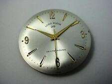 Vintage Watch Dial Pearl Lord Elgin Selfwinding 29.56mm Gold Numeral & Arrow Mrk