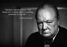 WINSTON CHURCHILL INSPIRIEREND / MOTIVATIONS ZITAT POSTER FANTASTIC (6