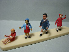 4  FIGURINES  SET 59   ENFANTS  CHILDRENS   VROOM  1/43  A  PEINDRE  NO  SPARK