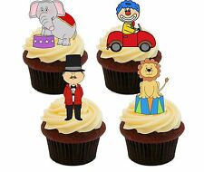 Circus Edible Cupcake Toppers - Stand-up Fairy Cake Decorations, Kids' Birthday