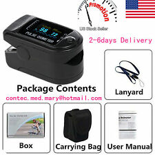 USA!!! Finger Tip Pulse Oximeter Blood Oxygen SpO2 PR Monitor OLED CMS50D SALE