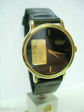 Montre Lingot lingotin 1g OR gold oro bank wristwatch baren vintage 80s Swiss