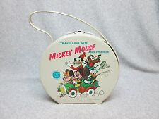 1963 Walt Disney TRAVELING WITH MICKEY MOUSE & FRIENDS Vinyl Lunchbox Bag  C#9