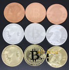 Full Set 9 Pcs Bitcoin BTC Physical Coin Gold plated Silver plated Red copper