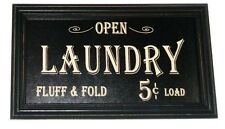 Laundry Fluff & Fold Sign Wood Plaque distressed rustic prim vintage decor OHW