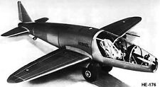 Heinkel He 176 Experimental German Rocket-Powered Aircraft Wood Model Small New