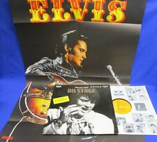 LP ELVIS PRESLEY - ON STAGE, FEBRUARY, 1970 / WITH RARE POSTER // GERMAN RCA