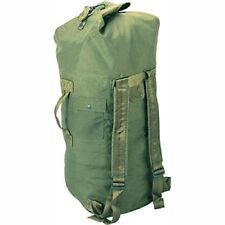 "Double Strap Top Load Nylon Duffle Bag 24"" X 36"" Army Navy USAF USMC Olive Green"